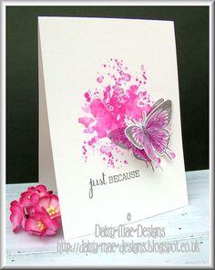 pink, butterfly,CAS  SU GORGEOUS GRUNGE stamp set