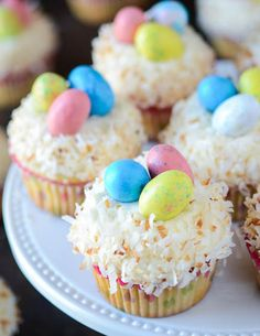 Coconut Cupcakes with Coconut Easter Nests