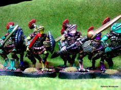 Bizaza Guard painted by Sean O'Sullivan. Miniatures, Minis