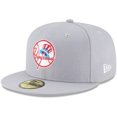 0583d40cd1e Men s New York Yankees New Era Gray Cooperstown Collection Wool 59FIFTY  Fitted Hat