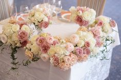 冬の装花 シェ松尾天王洲倶楽部さまへ 自分の感受性くらい メインテーブル