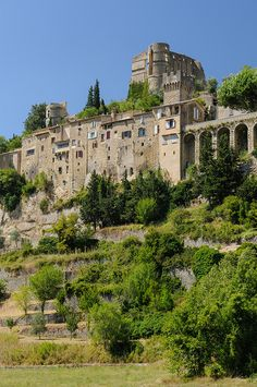 """Montbrun-les-Bains. One of the official """"Most beautiful villages in France."""""""