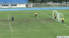 Thai Goalkeeper Celebrates Too Early