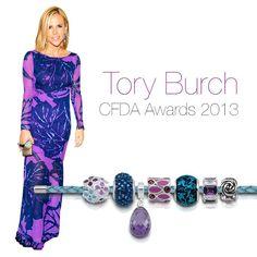 Tory Burch Purple Persona bracelet beads