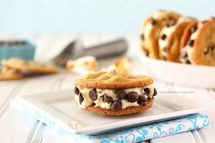 Toasted Marshmallow Ice Cream Cookie Sandwiches | www.chocolatemoosey.com