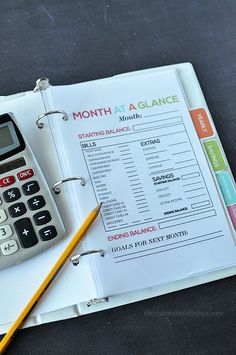 Ultimate Budget Binder, Mini Edition: Month at a Glance printable.  Includes 15 printables www.thirtyhandmadedays.com