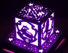 Harry Potter Hogwarts Houses Crest Inspired Color LED Lantern with Outlet powered Base