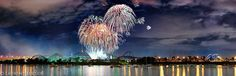 #Fireworks in #Montreal. This #photography was taken at the USA's performance at the Loto-Quebec International