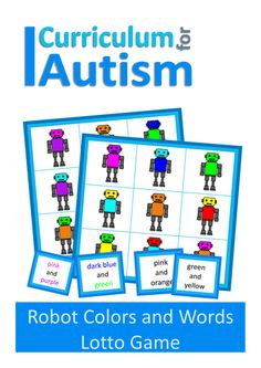 Reading Colour Words Robot Lotto Game for Autism & Special Education