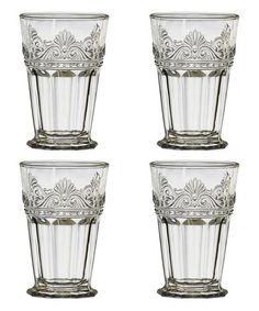 Another great find on #zulily! Clear Rococo Highball Glass - Set of Four #zulilyfinds