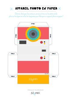 Voici un appareil photo à imprimer pour jouer. Un petit jeu d'imitation pour prendre des photos pour de faux ! Mais avec une petite astuce, les enfants pourront tout de même regarder à travers l'appareil photo. Allez hop, vous allez tout comprendre juste ci-dessous. Clic-clac, c'est dans la boîte ! Cool Paper Crafts, Paper Crafts Origami, Diy Crafts For Gifts, Diy Arts And Crafts, Diy Paper, Diy Gift Box, Diy Box, Kpop Diy, Papier Diy