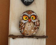 Unique Handpainted Owl Key Holder | Home Sweet Home Wall Key Holder