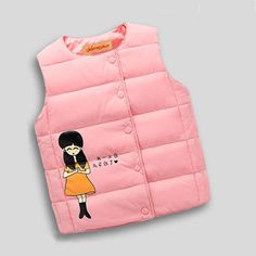 >> Click to Buy << 2016 Autumn Spring High Quality Children's Jackets Sweet Floral Down Cotton Warm Girls Vest Kids Waistcoat Baby Girl Clothes 3~8 #Affiliate