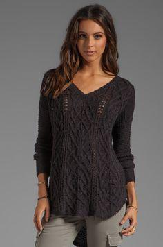 Free People Cross My Heart Sweater in Black | REVOLVE