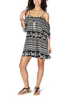 image of Rose Tribal Cold Shoulder Shift Dress Palazzo Jumpsuit, Rue 21, Teen Fashion, Smocking, Cold Shoulder Dress, Fashion Dresses, Girls Dresses, Rompers, Boho
