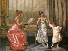 """Vittorio Reggianini (Italian,1858-1938), """"The Dancing Lesson"""" by sofi01, via Flickr"""