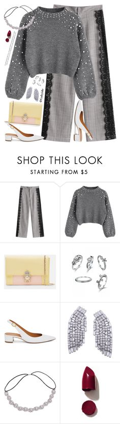 """""""Casual lace"""" by gabyidc ❤ liked on Polyvore featuring Ted Baker, Mansur Gavriel and NARS Cosmetics"""