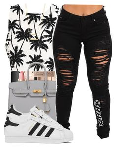 """""""Untitled #170"""" by itsteresa ❤ liked on Polyvore featuring Hermès, adidas and Jennifer Zeuner"""