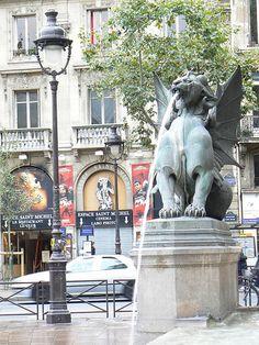 St Michel, Paris.  In the heart of the vibrant Latin Quarter.