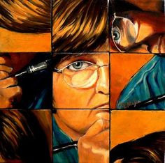 Artists Paint Themselves: April 2009 Mixed Up Carol Nelson Self Portrait Oil Nine Mini Canvases High School Art Projects, Cool Art Projects, Ap Studio Art, Ap Art, High Art, Portraits, Art Classroom, Art Studios, Art Lessons