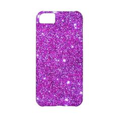 Pink Purple Sparkly Glam Glitter Designer Iphone 5c Covers ($43) ❤ liked on Polyvore featuring accessories and tech accessories