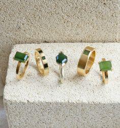 Pounamu Rings by Courtney Marama Jewellery