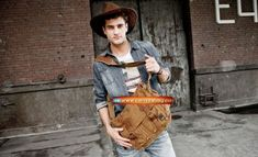 Genuine-Cow-Leather-Canvas-Bag-Messenger-Bag-Canvas-Bag-Laptop-Bag-11