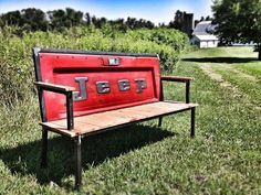 Jeep bench for when I learn to weld and have random Jeep parts around the house