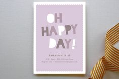 Happy Day Children's Birthday Party Invitations by Olivia Raufman at minted.com