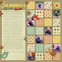 Do as traditional scrapbooking - great use for scraps (pinner said) summer play 2011 by terrab