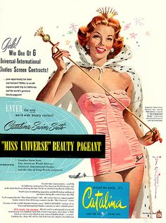 """PG409 """"Catalina Swim Suits"""" Poster by Jon Whitcomb (1952)"""