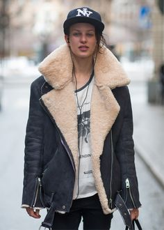 #shearling jacket
