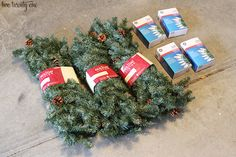 Learn how to make tomato cage Christmas trees with this step by step tutorial. Detailed instructions so you can create your own tomato cage Christmas trees. Porch Christmas Tree, Christmas Tree Village, How To Make Christmas Tree, Christmas Tree Crafts, Outdoor Christmas Decorations, Christmas Projects, Holiday Crafts, Holiday Fun, Christmas Holidays