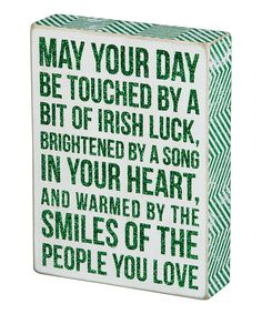 Look at this 'Irish Luck' Chalk Box Sign on #zulily today!