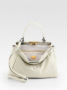 Fendi Peekaboo Leather Satchel --- A can dream, can't she?