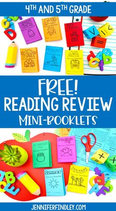 FREE seasonal and holiday reading review mini-booklets for 4th and 5th grade. The novelty and engaging themes will keep your students engaged as you review key reading skills in bite-sized chunks! Reading Homework, 5th Grade Reading, Reading Skills, Teaching Reading, Free Reading, Reading Workshop, Free Teaching Resources, Reading Resources, Reading Projects