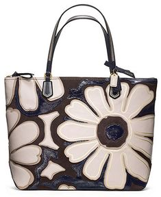 COACH POPPY ELEVATED FLOWER TOTE - COACH - Handbags & Accessories - Macys