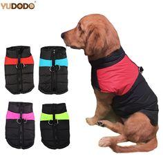 Купить товарЗима теплая одежда для собак Водонепроницаемый Zip Up Pet Стеганый жилет куртка для средних и крупных Товары для собак Ropa Para Перро S 5XL в категории Пальто и куртки для собакна AliExpress. Зима теплая одежда для собак Водонепроницаемый Zip-Up Pet Стеганый жилет куртка для средних и крупных Товары для собак Ropa Para Перро S-5XL