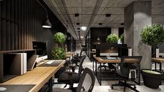 Office for engineering firm on Behance Corporate Office Design, Open Office Design, Design Studio Office, Industrial Office Design, Corporate Interiors, Workspace Design, Office Workspace, Office Interior Design, Office Interiors