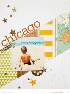 #papercraft #scrapbook #layout.  chicago 2013... by maggie massey at @Studio_Calico