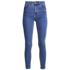 ALEXIA Jeans Skinny Fit mid blue denim ❤ liked on Polyvore featuring jeans, bottoms, skinny leg jeans, blue denim jeans, denim jeans, skinny jeans and skinny fit jeans