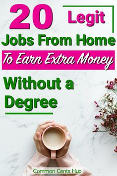 20 Legit jobs from home to make extra money without a degree. Yes, it's possible to work from home and earn a living wage. You can work at home and gain more quality time. Legit Work From Home, Fun At Work, Work From Home Jobs, Make Money From Home, Home Based Business Opportunities, Business Ideas, Ways To Save Money, How To Make Money, Jobs Without A Degree