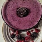 Riddle me this! What's healthy, nutrient packed, loaded with sumptuous berries, protein and is delicious to drink? *Ding-Ding-Ding* You got it! Yes, Yes...You are looking at it! A Mixed Berry Protein Smoothie! This is perfect for that person on the go any morning. A smoothie for breakfast helps you get hydrated at the start of the day. And since your body extracts water from many foods in order to stay hydrated, you won't have to drink water when you're savoring a lusciou...
