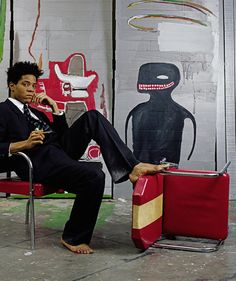 Jean-Michel Basquiat, possibly one of my favorite artists of all time. I will own a piece of his work one day if it's the last thing I do.
