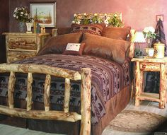 rustic+home+decor | Rustic Home Decor and Rustic Bedding from Aspenlog.com That's what I am talking about Love it
