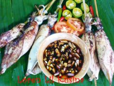 INIHAW NA PUSIT (GRILLED SQUID)- Grilled squid is a Filipino specialty. Served mostly Pulutan or appetizer Another easy grilling recipe, Here is one of the simplest dish inihaw na Pusit is always a fave.