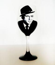Frank Sinatra Wine Glass – hand painted – 20 oz $21.00