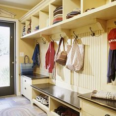 Storage : Mudroom Lockers with Bench Locker Style Furniture' Mudroom Benches' Corner Bench or Benches For Entryway' How To Make A Bench Seat' Entry Bench With Storage as well as Bench With Coat Rack' Storage - Best Source of DIY Home Improvement My Dream Home, Home Projects, Sweet Home, New Homes, House Ideas, House Design, Design Room, House Styles, Home Decor