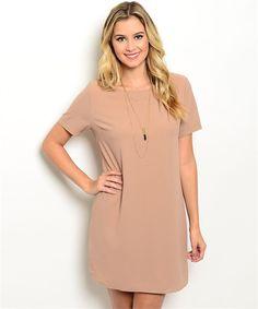 3acb854e0fd Tan Shift Dress – The Fig Leaf Boutique