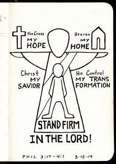 Stand Firm in the Lord • Philippians 4 • Devotions Sketchbook • Aaron Zenz